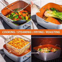 Load image into Gallery viewer, Home Hero Copper Pots and Pans Set -23pc Copper Cookware Set Copper Pan Set Ceramic Cookware Set Ceramic Pots and Pans Set Nonstick Induction Cookware Sets Pot and Pan Set Nonstick Cookware Set