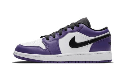 Baskets Air Jordan 1 Low Court Purple White Air Jordan Kikikickz