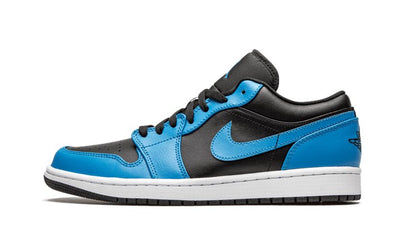 Baskets Air Jordan 1 Low Laser Blue Black Air Jordan Kikikickz