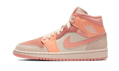 Air Jordan 1 Mid Apricot Orange Sneakers Air Jordan homme femme