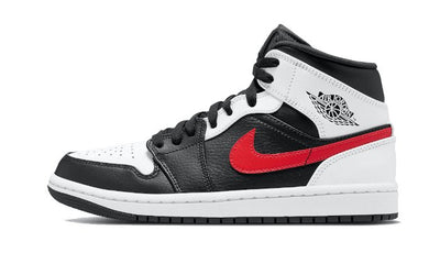 Baskets Air Jordan 1 Mid Black Chile Red White Air Jordan Kikikickz
