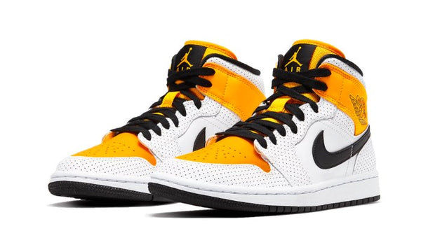 Air Jordan 1 Mid Laser Orange Sneakers Air Jordan homme femme