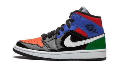 Air Jordan 1 Mid Multi Patent Sneakers Air Jordan homme femme