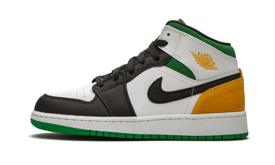 Air Jordan 1 Mid SE White Laser Orange Lucky Green Sneakers Air Jordan homme femme