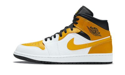 Baskets Air Jordan 1 Mid University Gold Air Jordan Kikikickz