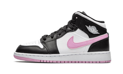 Baskets Air Jordan 1 Mid White Black Light Arctic Pink Air Jordan Kikikickz