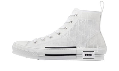 Dior B23 High Top Monogram Oblique White Sneakers Dior homme femme