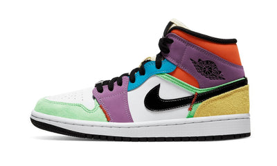 Air Jordan 1 Mid SE Multi-Color Sneakers Air Jordan homme femme