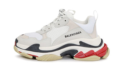Triple S White Black Red Sneakers Balenciaga homme femme