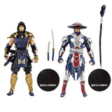 "Mortal Kombat Scorpion and Raiden Twin pack 7"" Action Figures"