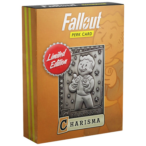 Fallout Limited Edition Metal Perk Card # 4 - Charisma