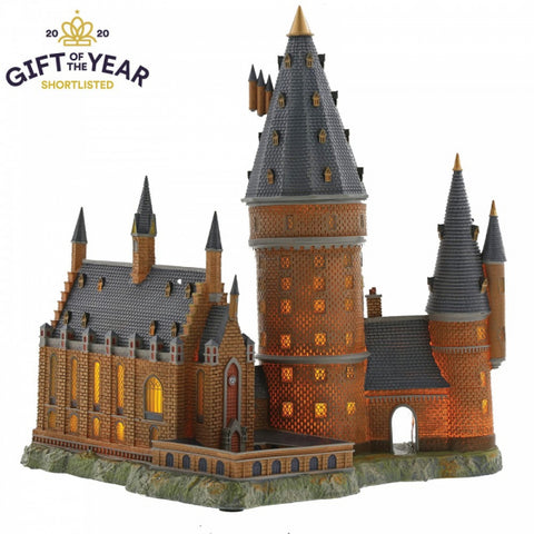 Harry Potter Hogwarts Great Hall and Tower Illuminating Resin Statue