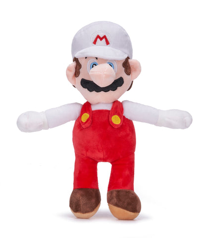 Super Mario Fire Mario 36cm Large Plush Toy