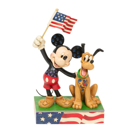 Disney Traditions by Jim Shore - A Banner Day Mickey and Pluto Figurine