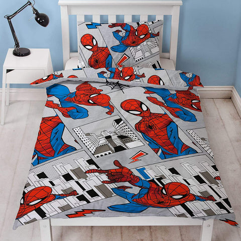 Spider-Man Web Swinger Reversible Single Duvet Cover Bedding Set