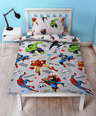 Marvel Comics Reversible Single Duvet Cover Bedding Set