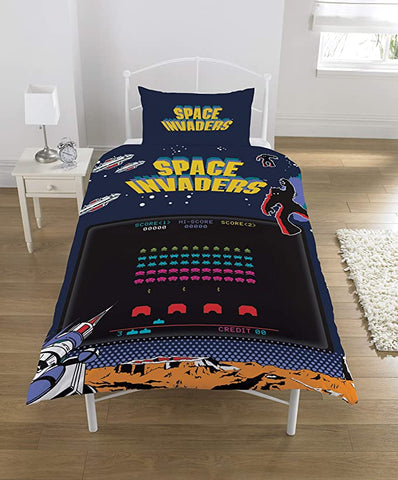 Space Invaders Single Duvet Cover Bedding Set