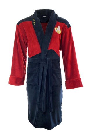 Star Trek Picard Red Adult Bath Robe