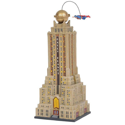 DC Comics Village by D56 - Superman The Daily Planet Statue