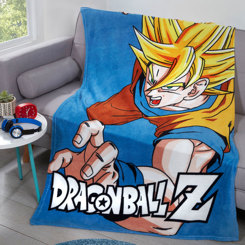 Dragon Ball Z Goku Super Saiyan Fleece Blanket Throw