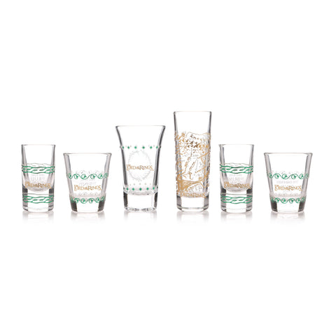 Lord of the Rings Six Shot Glass Set