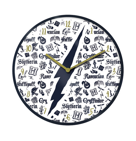 Harry Potter Hogwarts Houses Wall Clock