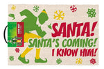 Elf Santa's Coming Coir Doormat