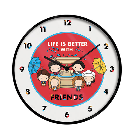 Friends Chibi Artwork Wall Clock