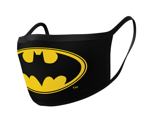 Batman Logo Face Mask 2 Pack