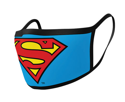 Superman Logo Face Mask 2 Pack