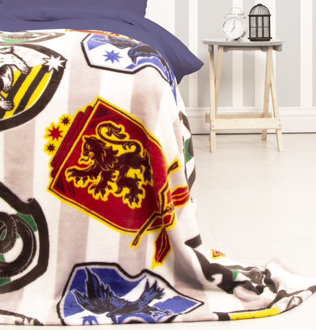 Harry Potter Hogwarts House Fleece Blanket Throw