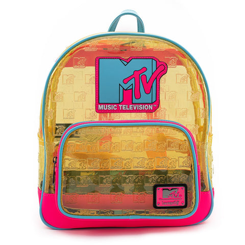 Loungefly x MTV Clear Neon Backpack