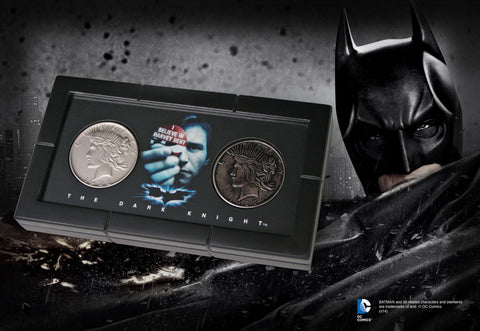 Batman The Dark Night Harvey Dent/Two Face Coin Set