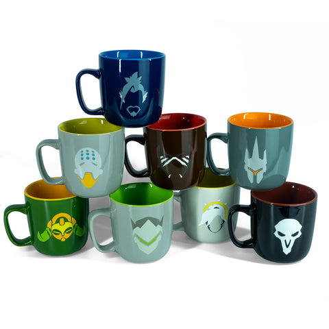 Overwatch Heroes 8-Piece Coffee Mug Set