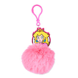 Super Mario Princess Peach Pom Pom Keychain