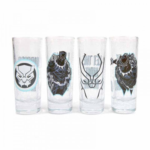 Marvel Black Panther 4 Set Shot Glasses