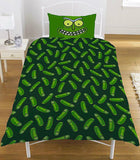 Rick and Morty Pickle Rick Single Duvet Cover Bedding Set