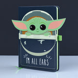 Star Wars The Mandalorian Baby Yoda Crib I'm All Ears Notebook