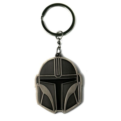 Star Wars The Mandalorian Helmet Metal Keyring