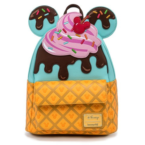 Loungefly x Disney Mickey Mouse Sweet Treats Ice Cream Mini Backpack