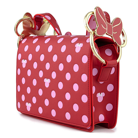 Loungefly x Disney Minnie Mouse Polka Dot Bow Handbag