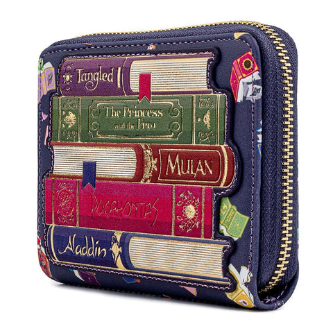 Loungefly x Disney Princess Books All Over Print Purse