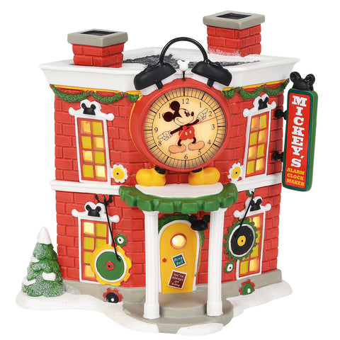 Mickey's Christmas Village Series by D56 - Mickey's Alarm Clock Shop