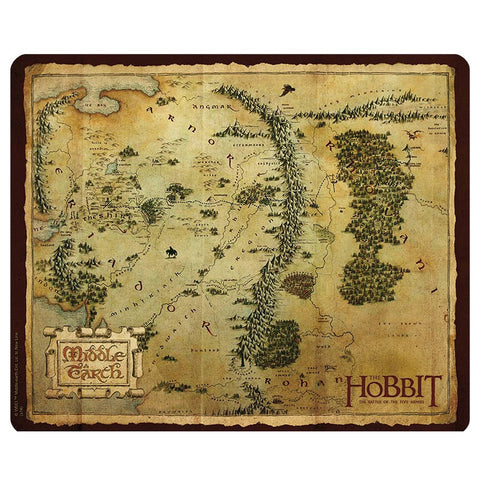 The Hobbit Mouse Mat - Map of Middle-Earth