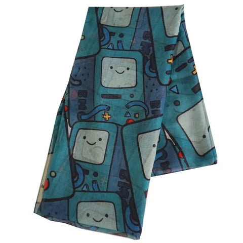 Adventure Time Beemo All Over Print Fashion Scarf