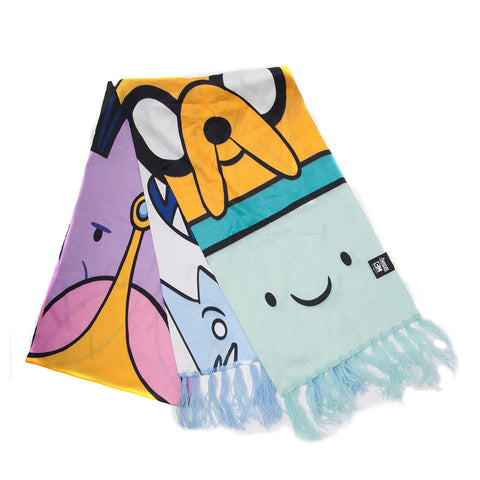 Adventure Time Characters Knitted Scarf