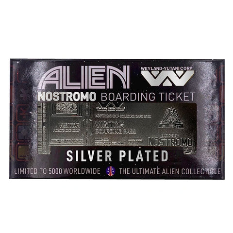 Alien USCSS Nostromo Silver Plated Limited Edition Boarding Pass