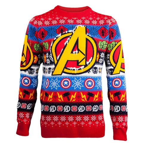 Marvel Avengers Knitted Christmas Jumper / Sweater