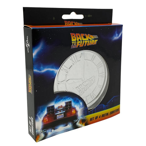 Back to the Future Metal Coasters (Set of 4)