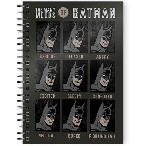 DC Comics The Many Moods of Batman A5 Spiral Notebook